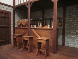 Stools By The Bar by AtriellMe
