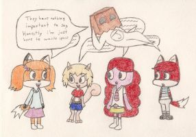 Gift: Fankids plus one's unimportant conversation by eternalJonathan