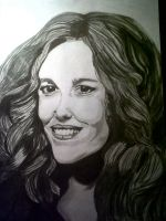Madeline Kahn Sketch (Charcoal) done by Mark-RSA