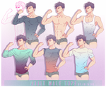 Clothing reference #1: Adult Male Tops by Oritasho