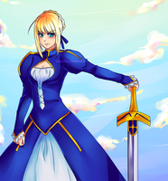 Servant Saber by thelittlestprince