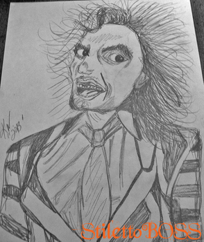Beetlejuice Drawing by StilettoBOSS