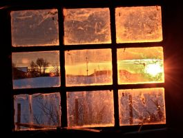 rotten sunset window by Sunima