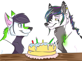 AYY IT'S YOUR (BELATED) BIRTHDAY by absynths