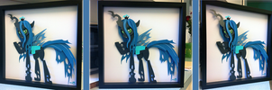 Commission:  Queen Chrysalis Shadowbox by The-Paper-Pony