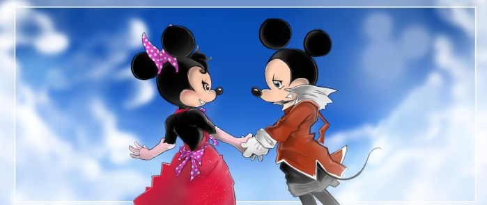Mickey and Minnie Mouse by selairy