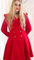 Red Wool Coat by ThreeRingCinema