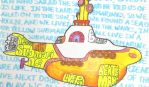 Yellow Submarine calligram by Orchid-Bud