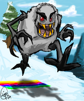 Skifree yeti by Triple-Q