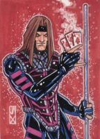 gambit sketch card by johnjackman