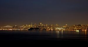 San Francisco Skyline by PamplemousseCeil