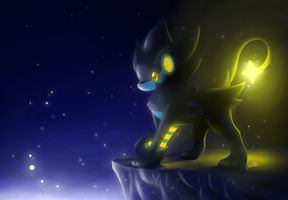 Luxray: A Light in the Dark. by streetdragon95