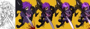 Hit-girl process by Quirkilicious