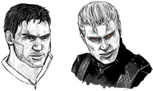 RE: Chris and Wesker Sketches by Boom-Pop-Ping