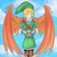 Link Skyward Triforce by Momokoi