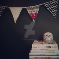 Book vignette with skull by Larissa2107