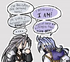 Kuja vs Sephy by neomonki