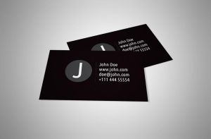 Black and White Personal Business Card Design by BorceMarkoski