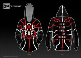 NOOB 4EVER (Hoodie 8-bit Design) by Masahiro-DanielS