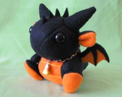 Halloween Dragon Plushie 1 by DragonsAndBeasties