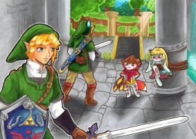 No fear! I`m here to rescue... Zelda?! by Rotquaeppchen