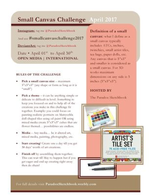 Small Canvas Challenge 2017 by ParadoxSketchbook