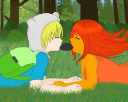 Finn and Flame Princess by samyhedgehog654