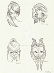 SWTOR quick face sketches by Ricchie-Lu