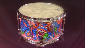 031 Dragon custom snare drum by InVistaArts