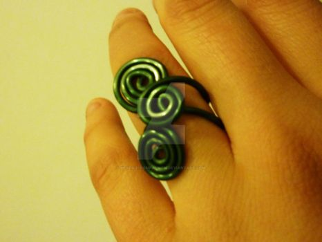 Triple Spiral Ensemble Ring by beadsofcompassion