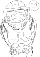 MC spartan doodle hehe by Spinosaur123