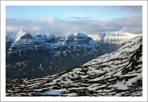 Liathach from across the Glen by Ballisticvole