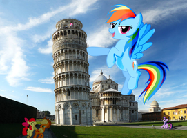 Ponies at Pisa by Darkkon13