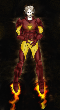 Iron Man - Amano style by 00-TabulaRasa-00