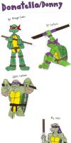 Turtle Gens: Donatello by KessieLou