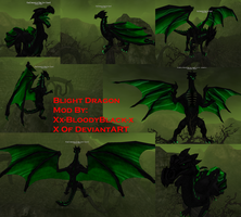 Blight Dragon Mod on My Istaria Dragon by KisaCrescent