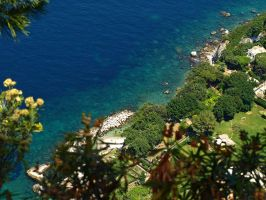 Turquoise Waters of Capri by AgiVega