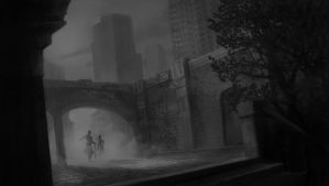 Black and White Alley by robtheR0B0T