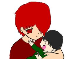 Collion and Baby Kaze by BigAssFamily