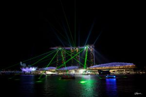 Singapore Lightshow by dragonslayero