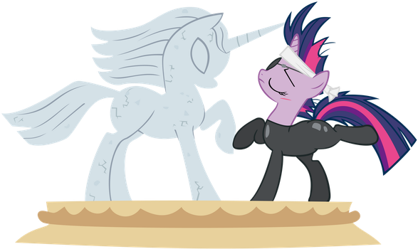 Solid Twilight Sparkle Statue by RealBoser