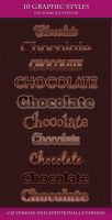 Set of Beautiful Dark Chocolate Graphic Styles by Love-Kay