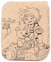 Kingdom Hearts - Sora and Pooh Bear by Rin-Uzuki