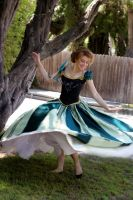 Frozen Anna Green Dress Costume Cosplay by glimmerwood