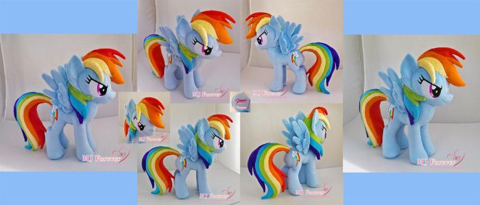 Rainbow Dash plushie by moggymawee