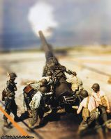 Miniature Effect Photo of American Artillery by DeoKristady