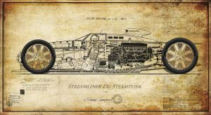Steampunk Streamliner by GaryCampesi