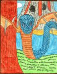 Winged Serpent Colored by Kuwathen