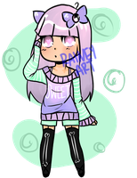 Pastel Goth Adoptable ((Open)) by RaineyArt
