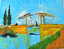 The bridge of Langlois at Arles by death-of-roots